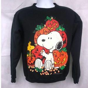 VTG 90's Peanuts Snoopy Halloween Crewneck  M